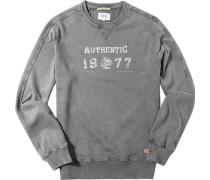 Herren Sweatshirt Baumwolle grau