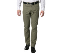 Herren Jeans Regular Fit Baumwoll-Stretch olive