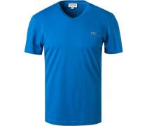 T-Shirt Regular Fit Baumwolle azur