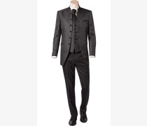 Herren Anzug Slim Line Material-Mix grau gemustert