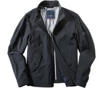 Herren Reise-Jacke Nylon-Stretch halbgefüttert schwarz schwarz,blau,grau,weiß