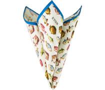 Herren Krawatte Einstecktuch Baumwolle-Seide multicolor gemustert