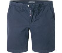 Herren Hose Bermudashorts, Classik Fit, Baumwolle, marine blau