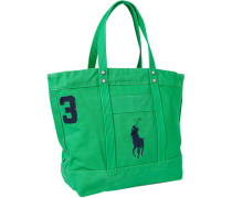 Herren Shopper, Canvas, grün