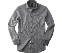 Herren Hemd Smart Cut Baumwolle anthrazit grau