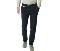Herren Hose Chino Modern Fit Baumwolle dunkelblau