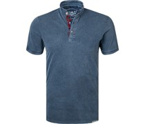 Polo-Shirt Baumwoll-Piqué navy