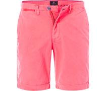Herren Hose Bermudashorts, Regular Fit, Baumwolle, neon pink rosa
