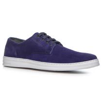 Herren Schuhe Sneaker Veloursleder blau