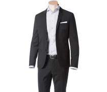 Herren Sakko Slim Fit Wolle Super100 schwarz