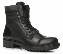 Herren Schuhe Stiefelette Leder schwarz schwarz,schwarz