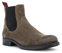Schuhe Chelsea Boots Veloursleder taupe