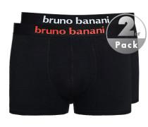 Herren Unterwäsche Trunks, Baumwoll-Stretch, schwarz