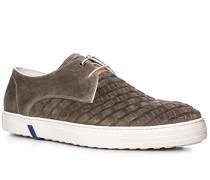 Herren Schuhe Sneaker Veloursleder braun braun,weiß