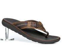 Herren Schuhe Zehensandalen Leder braun