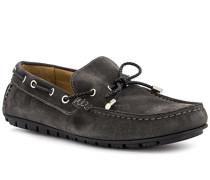 Schuhe Mokassin Veloursleder dunkel