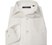 Herren Hemd, Modern Fit, Popeline, wollweiß lila