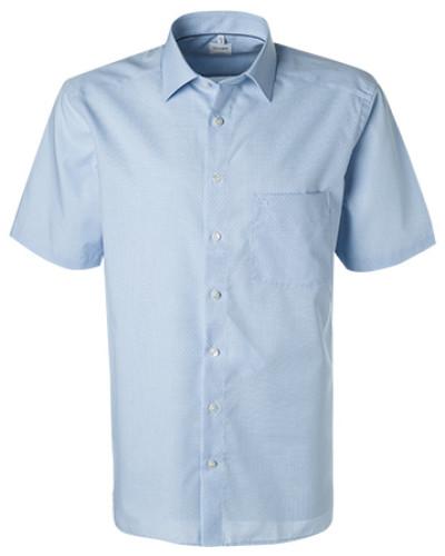 Kurzarmhemd, Comfort Fit, Baumwolle, bleu meliert