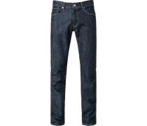 Herren Jeans, Baumwolle, dunkelblau