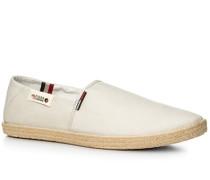 Herren Schuhe Slipper Canvas offwhite weiß