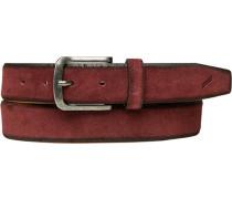 Herren Gürtel bordeaux Breite ca. 3,5 cm rot