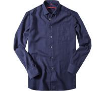 Herren Hemd Classic Fit Baumwolle marineblau
