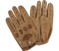Herren Autofahrer-Handschuhe, Peccaryleder, hellbraun