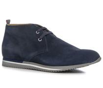 Herren Schuhe Desert Boots, Veloursleder, marine blau