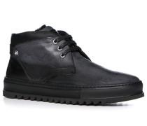 Herren Schuhe Desert Boots Nubukleder dunkelgrau-schwarz