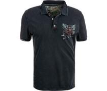 Polo-Shirt Baumwoll-Piqué indigo