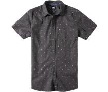Herren Hemd Modern Fit Baumwolle schwarz gemustert