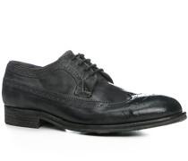 Herren Schuhe Budapester Rindleder genarbt grigio grau,beige,grau