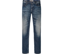 Jeans Super Slim Fit Baumwoll-Stretch indigo