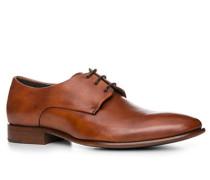 Herren Schuhe Derby, Kalbleder, cognac cognac ton