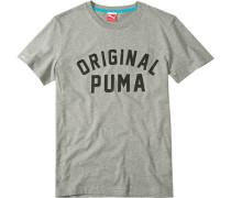 Herren T-Shirt, Baumwolle, grau meliert