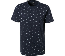 T-Shirt, Baumwolle, dunkel gemustert