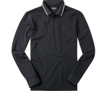 Herren Polo-Shirt, Baumwoll-Piqué, nachtblau