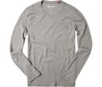 Herren T-Shirt Baumwoll-Mix hell meliert