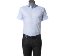 Herren Hemd Slim Fit Stretch-Popeline hellblau