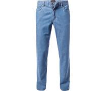 Herren Jeans Seth, Tailored Fit, Baumwoll-Stretch, denim blau