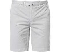 Herren Hose Shorts, Baumwolle, silbergrau