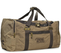 Herren Reisetasche, 'Journey', Nylon, sand braun