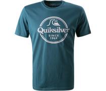 T-Shirt, Regular Fit, Baumwolle, petrol