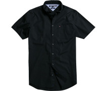 Herren Hemd New York Fit Baumwoll-Stretch schwarz