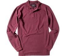 Herren Polo-Shirt Baumwoll-Piqué chianti rot