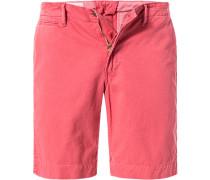 Herren Hose Shorts, Baumwolle, rot