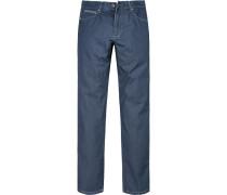 Herren Jeans Modern Fit Baumwoll-Stretch denim blau