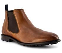 Schuhe Chelsea Boots Leder cognac