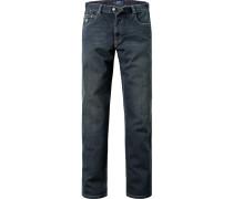 Herren Jeans, Baumwoll-Stretch, dunkelblau