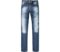 Herren Jeans Regular Fit Baumwoll-Denim denim blau